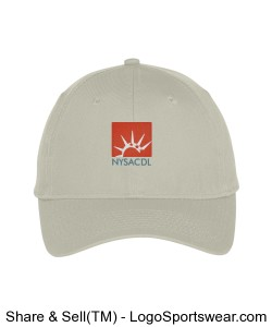 Lightweight Brushed Cotton Twill Cap Design Zoom